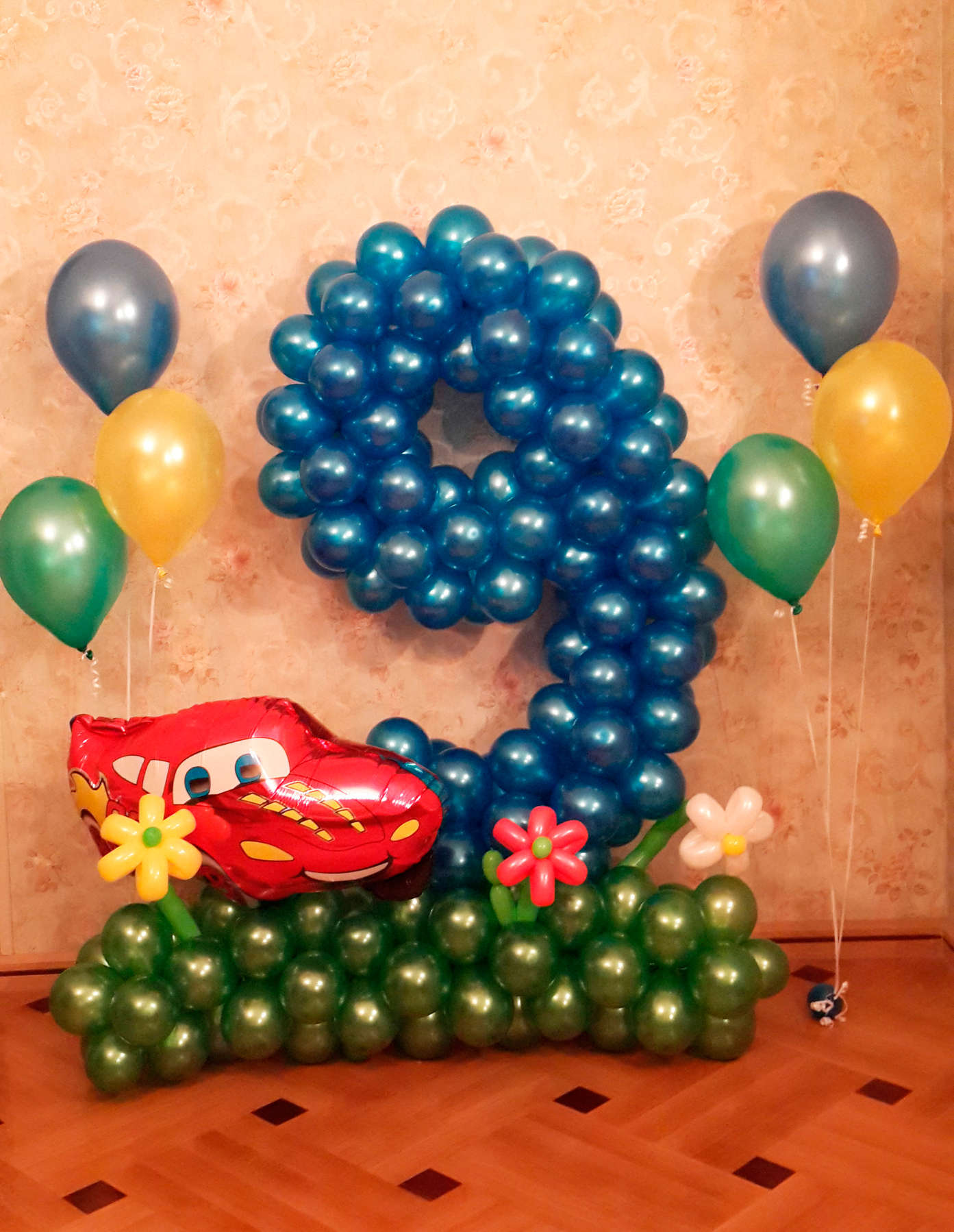 Фото как сделать цифры из шаров своими руками