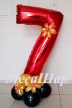 """№ 3.14. Воздушный шар """"цифра на подиуме"""". Высота 130-140см., стоимость 490р. Цветовая гамма на выбор."""