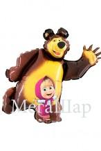 """№7.41. Воздушный шар """"Маша и Медведь"""", высота 101 см., стоимость 500р."""