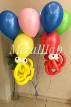 №10.39. Воздушный шар осьминог - 100р., гелиевые шары от 46р.