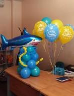№2.02 Акула из воздушных шаров - 600 руб.