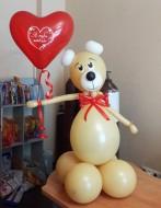 №2.20 Мишка из воздушных шаров - 500 руб.