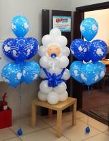№15.13 Малыш в кульке - 500 руб., фонтан из 7-и шаров с обработкой - 518 руб.