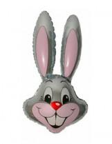 №7.44 Заяц серый, розовый, зеленый, синий или фиолетовый. 89см., стоимость - 290 руб.