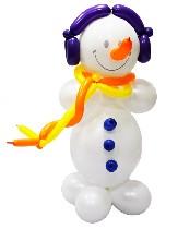 №9.23 Снеговик из воздушных шаров. Стоимость - 350 рублей