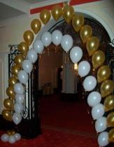 №4.01 Арка (цепочка) из шаров с гелием. Стоимость 148 руб. метр