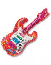 №7.57 Гитара красная или розовая, 112см., стоимость - 290 руб.