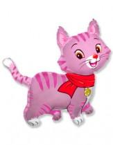 """№7.48. Воздушный шар """"Котенок в шарфике"""", размер 81см., стоимость 300р."""