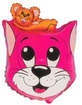 №7.42 Кот с мышонком розовый и синий, 69см., стоимость - 290 руб.