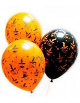 """№8.11. Гелиевые шары """"хеллоуин"""". Стоимость шарика с обработкой (летает 3-7 дней) - 45р/шт., шар без обработки (летает 12 часов) - 40 р./шт."""
