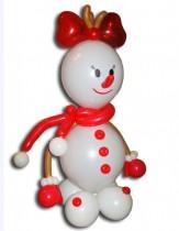 №9.13 Снеговик из воздушных шаров - 350 руб.