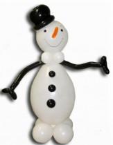 №9.10 Снеговик из воздушных шаров - 350 руб.