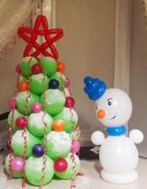№9.05 Ёлка из воздушных шариков - 550 руб./метр, снеговик - 250 руб.
