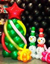 №9.07 Ёлка - 550 руб./м., снеговик - 250 руб., подарок из воздушных шаров - 50 руб.