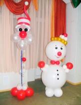 №9.28. Снеговик 1.5м - 750 руб., Дед Мороз - 450 руб.