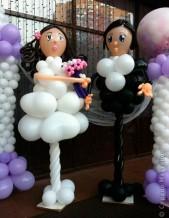 №5.18. Фигуры жениха и невесты, высота 1.5 метра, стоимость двух фигур - 2000р.