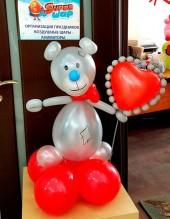 №12.05 Мишка с сердечком, высота 70 см., стоимость - 550р.