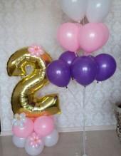 """№ 3.20. Воздушный шар """"цифра на подиуме"""" - 490р.. Высота 130-140см., цвет шаров и цифры любой!"""