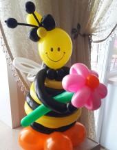 """№2.54.  Фигура из шаров """"Пчела"""", 60см. - 490р."""