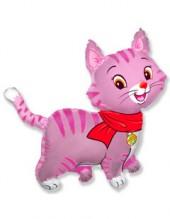 """№7.48. Воздушный шар """"Котенок в шарфике"""", размер 81см., стоимость 390р."""