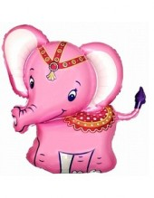 """№7.55. Воздушный шар """"Слоненок"""", цвета: розовый и голубой. Размер 81см., стоимость 390р."""