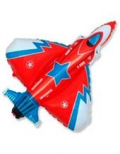 """№7.56. Воздушный шар """"Истребитель"""", цвета: военный и красный. Размер 99 см., стоимость 300р."""