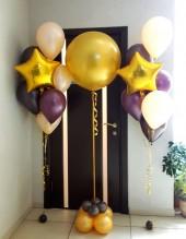 №13.08. 554р - фонтан из 6-и шаров пастель с обработкой и звездой. Шар 45-50см - 600р.