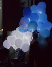 №5.06. Светящиеся шары 90 руб.\шт., светящиеся сердца 130 руб.\шт.