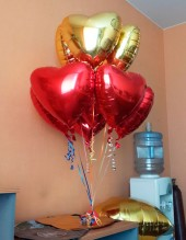 №10.94. Фольгированные гелиевые сердца - 200 руб.\шт.