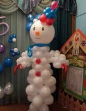 №9.10.  Снеговик из воздушных шаров, высота 2 метра - 1550р.