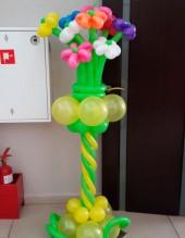 №6.05. Стойка с цветами (9шт.), высота 1.5 метра, стоимость 850р.