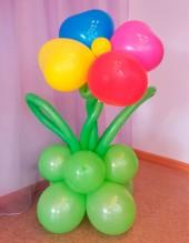 №6.20 Цветок большой из шаров, высота 1 метр, стоимость 250р.