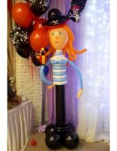 №6.26. Пиратка из шаров, высота 1.5 метра, стоимость - 1000р.