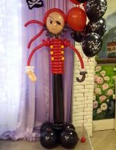 №6.27. Пират из воздушных шаров, высота 1.5 метра, стоимость - 1000р.