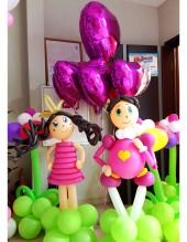 №6.45. Фигуры принца и принцессы из шаров, высота 1.3 метра, стоимость 900р.\шт.