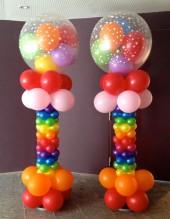 №6.43. Стойка из шаров, высота 1.7 метра, стоимость - 800р.