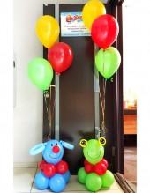 №6.15.  Фонтан из 3-х шаров с подставкой, стоимость с обработкой - 420р.