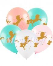 """№10.07. Воздушный шар """"Единорог"""" (нежно-розовый, белый, персик, бирюзовый). Стоимость с обработкой 64р., без обработки 54р."""