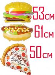№7.01. Гелиевый бургер, хот-дог или пицца - 360р.\шт.