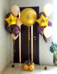 №11.35.  554р - фонтан из 6-и шаров пастель с обработкой и звездой. Шар 45-50см - 600р.