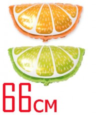 "Гелиевый шар ""Лайм"" и ""Апельсин"" - 350р."