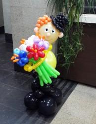 №14.31.  Джентельмен с букетом из 7-и цветов - 1500р.