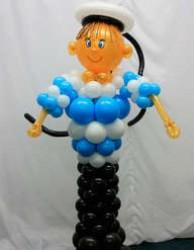 №11.55. Моряк из воздушных шаров - 900 руб., 140см.