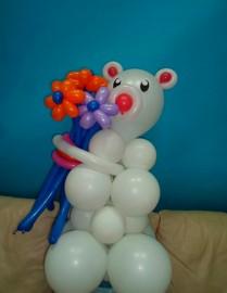 №1.25. Мишка с цветами 3 шт. Стоимость 750 р.