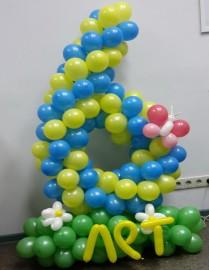 №3.01 Плетеная цифра из шаров на подиуме 950р.