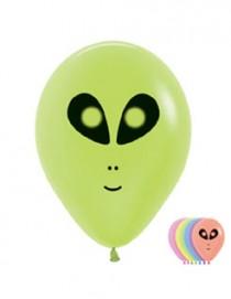 """№10.212 Воздушный шар """"Чужие"""", ассорти, неон. Стоимость гелиевого шарика с обработкой - 45 руб., без обработки - 40 руб."""