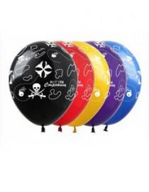 """№10.213 Воздушный шар """"Остров сокровищ"""", ассорти, пастель. Стоимость гелиевого шарика с обработкой - 45 руб., без обработки - 40 руб."""