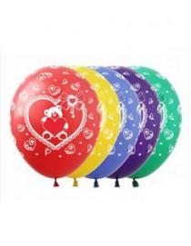 """№10.214 Воздушный шар """"Мишка с сердцем"""". Стоимость гелиевого шарика с обработкой - 45 руб., без обработки - 40 руб."""