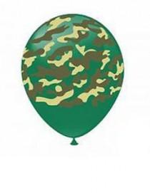 """№10.302. Воздушные шары """"Камуфляж"""". Стоимость гелиевого шарика с обработкой - 74 руб., без обработки - 64 руб."""