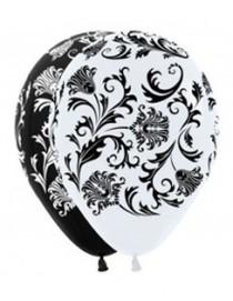 """№10.303. Воздушный шар """"Дамаск"""", пастель. Стоимость гелиевого шарика с обработкой - 74 руб., без обработки - 64 руб."""